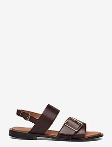 BIADARLA Cross Sandal - platta sandaler - dark brown