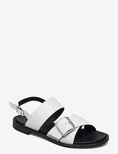 BIADARLA Cross Sandal - platte sandalen - white