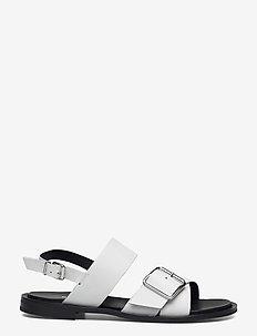 BIADARLA Cross Sandal - platta sandaler - white