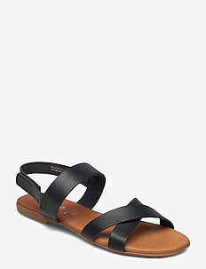 BIABROOKE Cross Sandal - platte sandalen - black