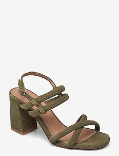 BIACHARLENE Cross Sandal - sandalen mit absatz - pale green 1