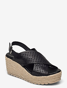 BIADANEEN Per. Sandal - espadrilles met sleehak - black
