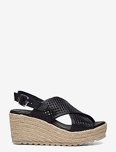 BIADANEEN Per. Sandal - espadrilles mit absatz - black