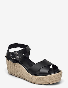 BIADANEEN Sandal - espadrilles met sleehak - black