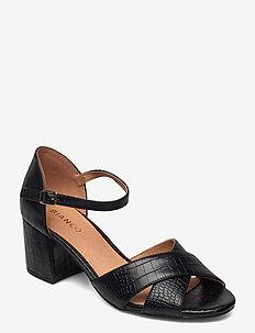 BIACATE Cross Sandal - højhælede sandaler - black 6