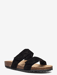 BIABETRICIA Quilt Vel. Sandal - flat sandals - black 1