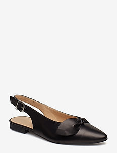 BIABERRY Leather Bow Shoe - BLACK