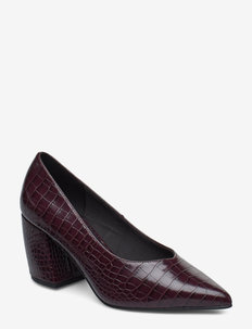 BIACANDY Flared Pump - BURGUNDY 9