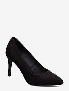 BIACAIT Basic Suede Pump - BLACK 1
