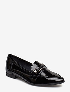 BIAALIAL Leather Buckle Loafer - BLACK 3