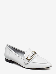 BIAALIAL Leather Buckle Loafer - WHITE 3