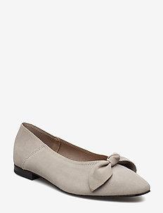 BIABERNA Suede Bow Shoe - LIGHT GREY 1