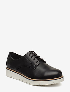 BIABITA Derby Laced Up Shoe - BLACK