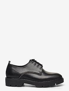 BIACALDER Leather Shoe - snörskor - black
