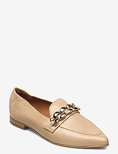 BIATRACEY Leather Chain Loafer - instappers - creme