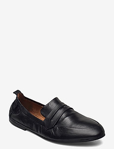 BIASTORY Leather Loafer - instappers - black