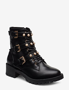BIAPEARL Biker Boot - BLACK