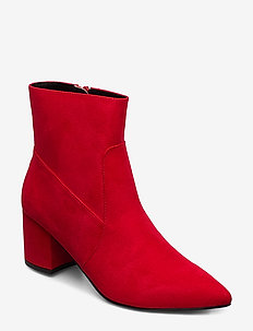Pointy Ankle Boot - ankle boots with heel - red 1