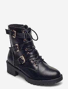 BIACLAIRE Basic Biker Boot - ankelstøvler med hæl - black