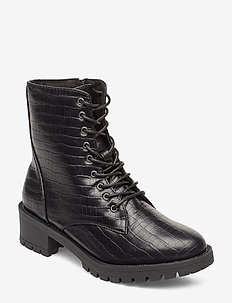 BIACLAIRE Laced-Up Boot - flache stiefeletten - black 9