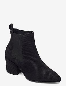 BIACIA Suede Chelsea Boot WF - ankelstøvler med hæl - black 1