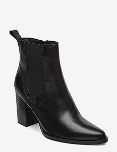 BIAJUDIA Leather Boot - talon haut - black