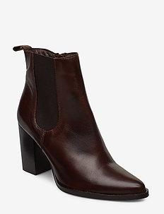 BIAJUDIA Leather Boot - talon haut - dark brown