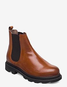 BIACYAN Leather Chelsea Boot - bottes chelsea - cognac