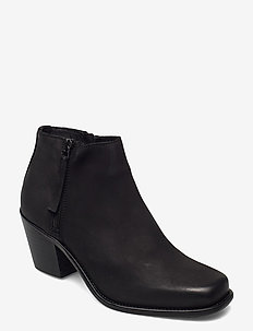 BIACEDAR Leather Zip Boot - enkellaarsjes met hak - black 2