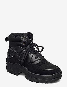 BIACORO Chunky Winter Boot - platte enkellaarsjes - black 1