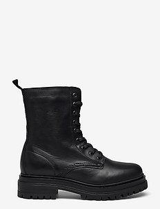 BIADARLENE Laced Up Boot - flade ankelstøvler - black