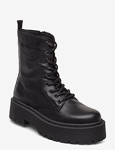 BIADEB Laced Up Boot - bottes hautes - black