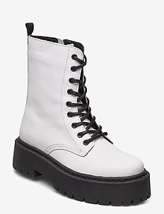 BIADEB Laced Up Boot - bottes hautes - white