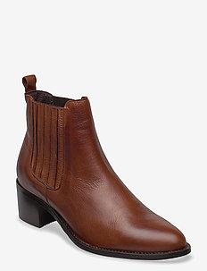 BIACAROL Chelsea Boot - ankelstøvler med hæl - cognac