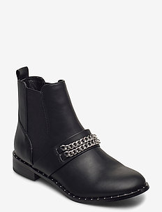 BIAELLA Chain Chelsea Boot - talon bas - silver