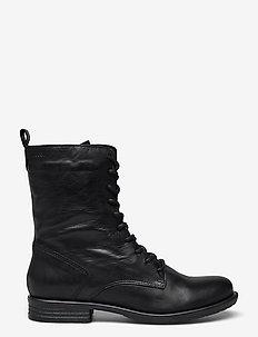 BIADANELLE Lace Up Boot - flade ankelstøvler - black