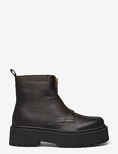 BIADEB Zip Boot - flade ankelstøvler - khaki