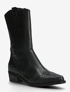 BIADELORA Western Long Boot - lange laarzen - black