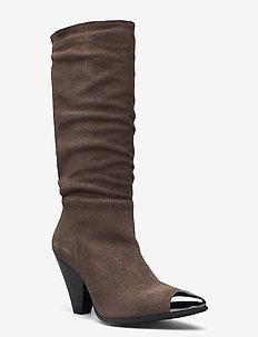 BIADEVIA Long Boot - lange laarzen - stone 1