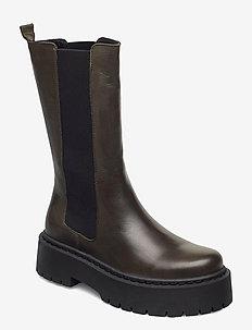 BIADEB Long Boot - platte enkellaarsjes - khaki