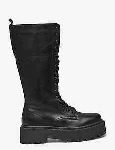 BIADEB Laced Up Long Boot - langskaftede - black