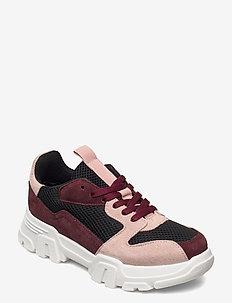 BIACANARY Suede Sneaker - lage sneakers - burgundy 1