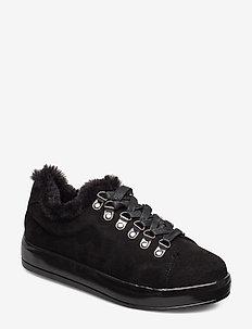 BIAALLY Fur Sneaker - BLACK 1