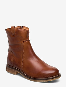 BIAATALIA Winter Leather Boot - talon bas - cognac