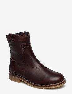 BIAATALIA Winter Leather Boot - talon bas - dark brown