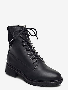 BIACHERYL Winter Warm Boot - platte enkellaarsjes - black