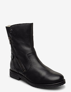 BIAATALIA Winter Zipper Boot - flat ankle boots - black