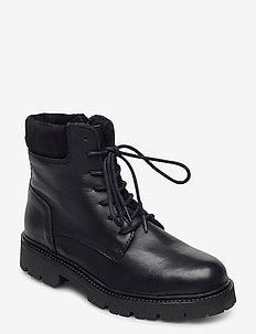 BIADIYA Laced Warm Boot - flate ankelstøvletter - black
