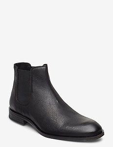 BIABYRON Leather Chelsea - chelsea boots - black