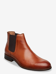 BIABYRON Leather Chelsea - chelsea boots - brandy